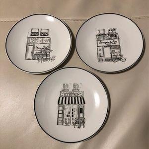 Paris French Appetizer Plates
